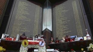Memorial for the victims of Hillsborough.