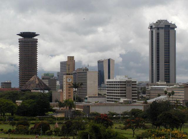 Vue de Nairobi, la capitale du Kenya.