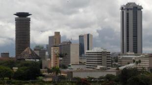 Vue du centre administratif de Nairobi, la capitale du Kenya.