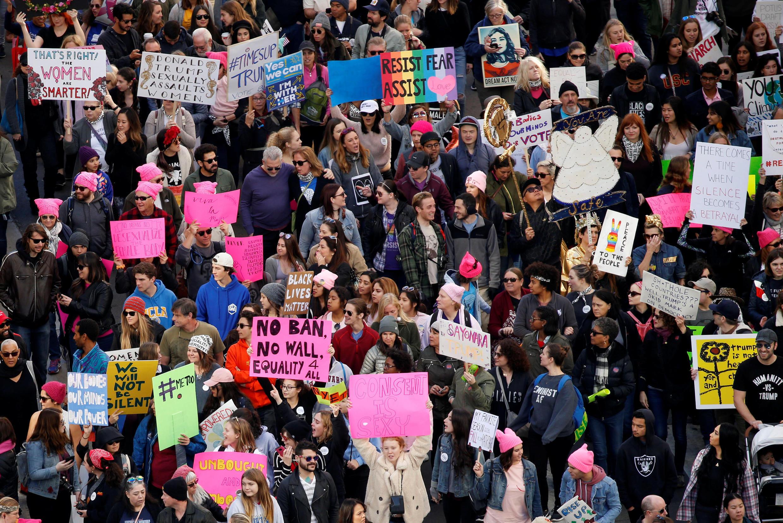 Cuộc Tuần hành Phụ nữ chống tổng thống Donald Trump tại Los Angeles, California ngày 20/01/2018.