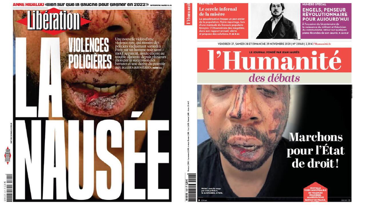 2020-11-27 france presse violences policières michel black humanité libération