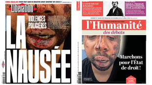 Left wing French media outlets dedicate their front pages to the beating of 41-year-old Michel Zecler.