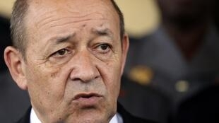 French Defence Minister Jean-Yves Le Drian photographed on May 12, 2014.