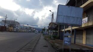 Les rues de Buea, capitale régionale du Sud-Ouest, l'une des deux régions anglophones du Cameroun, sont désertées, ce mercredi 3 octobre 2018.