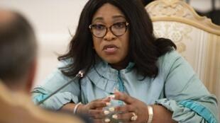 Shirley Ayorkor Botchway, ministre ghanéenne des Affaires étrangères (ici le 20 août 2019 à Moscou) conduit une délégation ministérielle de la Cédéao en Côte d'Ivoire.