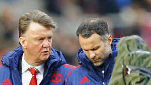 Manchester United manager Louis van Gaal (left) and assistant Ryan Giggs are under pressure to halt the slump which has seen the side slip out of the top four in the Premier League.