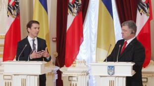 Канцлер Австрии Себастьян Курц и президент Украины Петр Порошенко, Киев, 4 сентября 2018 г.