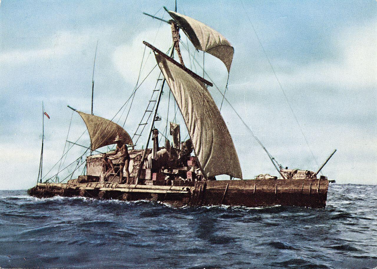 Expedición a bordo del Kon-Tiki.