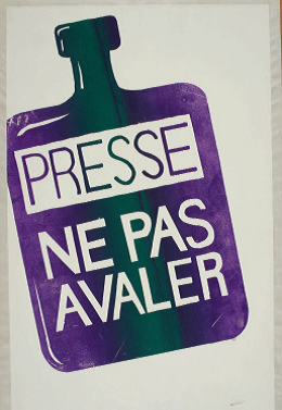 """This poster warned the press is poisonous and people shouldn't """"swallow"""" what they read"""