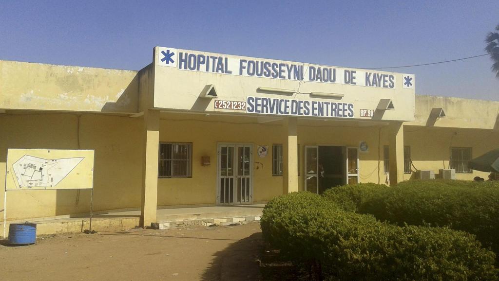 Hospitali ya mji wa Kayes, alikofariki mtoto wa umri wa miaka miwili aliye ambukizwa virusi vya Ebola.