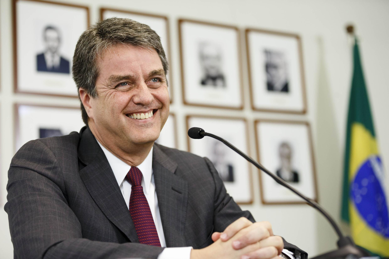 Le nouveau directeur de l'OMC, Roberto Azevedo, à Genève, le 8 mai 2013.