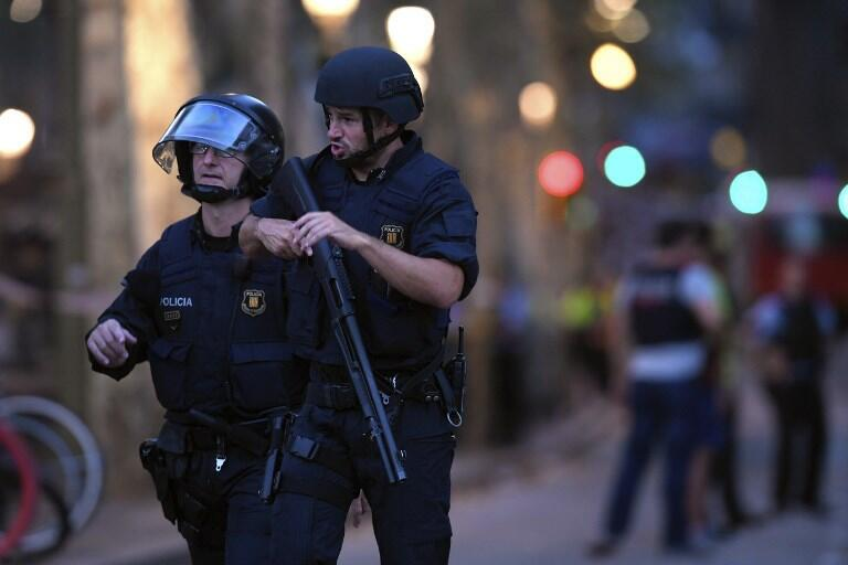 Полиция в Барселоне, 17 августа 2017 г.