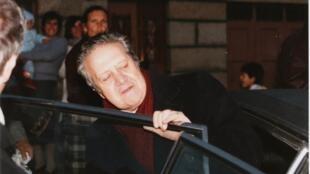 Mario Soares, em 1986, durante campanha para a campanha presidencial portuguesa