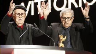 Les réalisateurs italiens Vittorio (g) et Paolo Taviani.