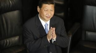 El presidente chino Xi Jinping luego de pronunciar un discurso en el senado de México, el 5 de junio de 2013.
