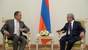 Встреча Сергея Лаврова и Сержа Саргсяна в Ереване 23/06/2014