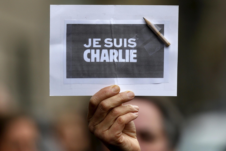 Une pancarte « Je suis Charlie », à Strasbourg, le 8 janvier 2015.