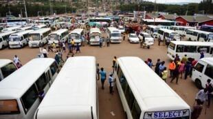 Gare routière de Kigali, le 11 mars 2020.