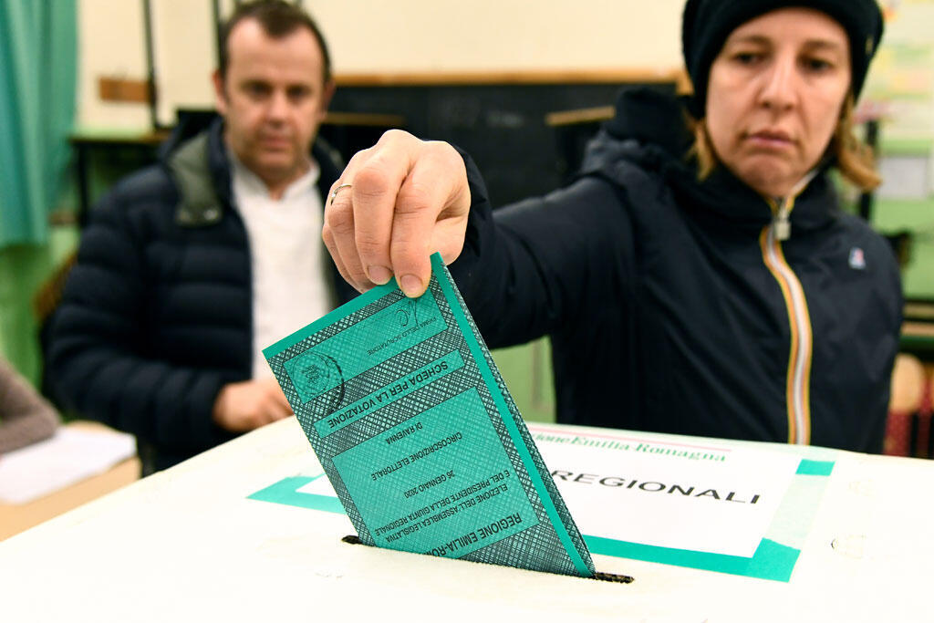 Élections régionales en Émilie-Romagne, à Ravenne, en Italie, le 26 janvier 2020. (Photo d'illustration)