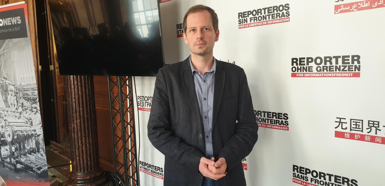 руководитель бюро Восточной Европы иСредней Азии«Репортеров без границ»Йохан Бир.