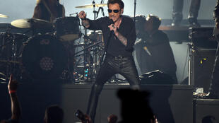 Johnny Hallyday on stage in Brussels in 2016