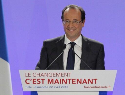 François Hollande, Dan takarar Shugaban kasa mai hamayya da Sarkozy  karkashin Jam'iyyar gurguzu ta socialist
