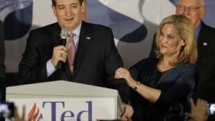Le candidat républicain Ted Cruz, dans l'Iowa, le 1er février 2016.