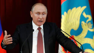 Shugaban kasar Rasha Vladimir Putin.