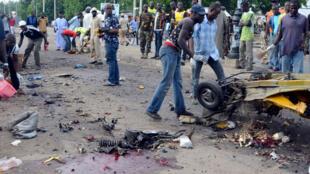 Maiduguri essuie régulièrement des attaques des islamistes. Ici, après une explosion sur un marché, le 31 juillet 2015.