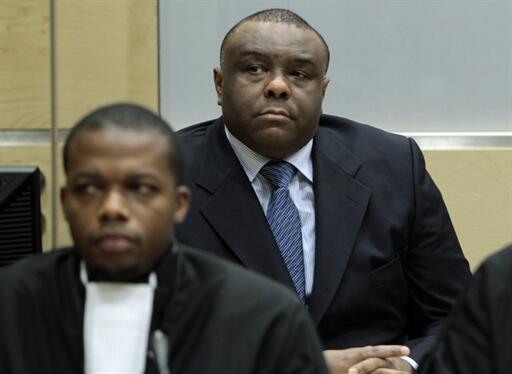 El ex  comandante del MLC Jean-Pierre Bemba, en la CPI.