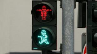 Светофор в Трире, родном городе Карла Маркса