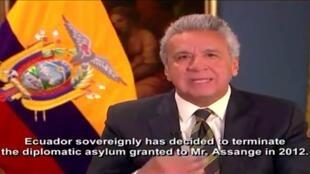Wikileaks a-t-il mis en place un plan de «déstabilisation» du président Lenin Moreno (notre photo)?