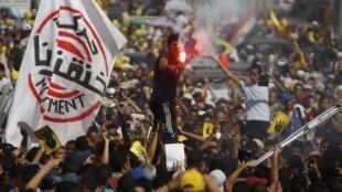 Manifestation des partisans de la confrérie des Frères musulmans, en septembre 2013 au Caire.