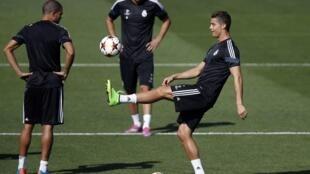 Treino do Real Madri que estreia nesta terça-feira (16) a edição 2014/2015 da Liga dos Campeões.