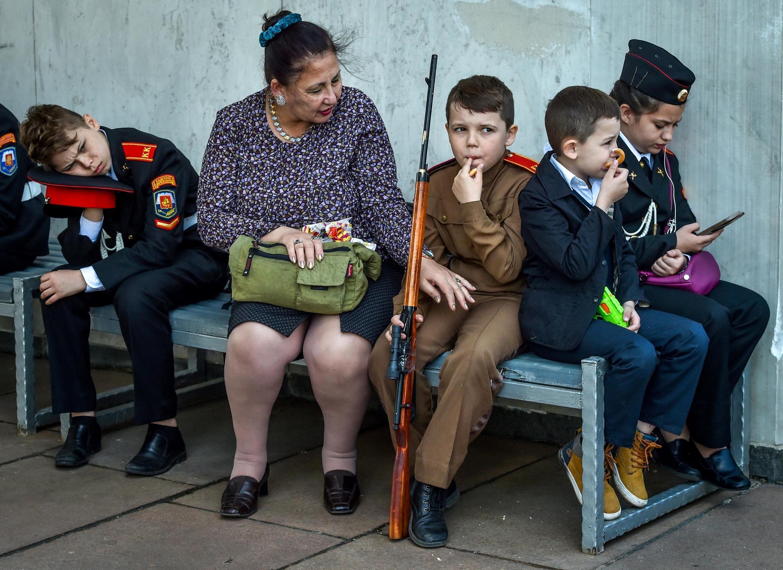Перед парадом кадетов, Москва, 6 мая 2019 г.