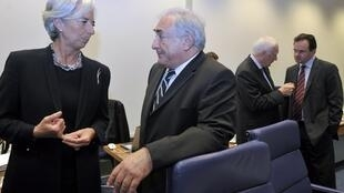 French Finance Minister Christine Lagarde with IMF chief Dominique Strauss-Kahn - she wants tighter regulation