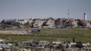 La colonia israelí de Adam, situada cerca de la ciudad de Ramala en Cisjordania.