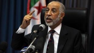 Abdelaziz Belkhadem, le secrétaire général du FLN, grand vainqueur des élections locales du 29 novembre 2012.