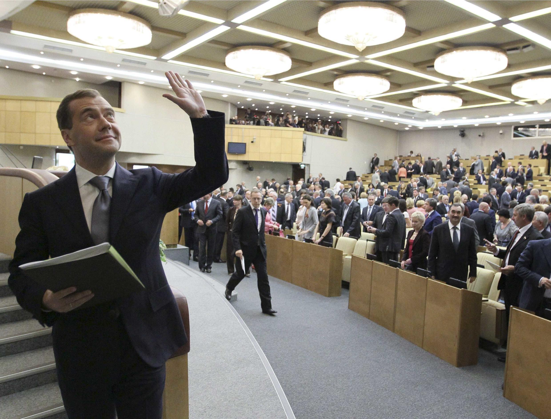 Дмитрий Медведев в Госдуме 8 мая 2012
