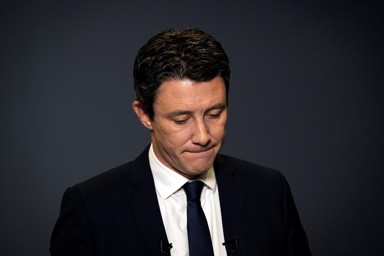 Benjamin Griveaux lors de l'annonce du retrait de sa candidature à la mairie de Paris, le 14 février 2020.
