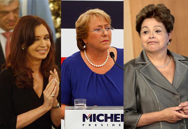 Cristina Kirchner, Michelle Bachelet, Dilma Rousseff.