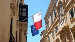 Malte - UE - drapeau