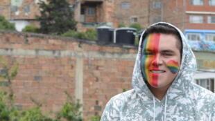 Harold, 19 años, va a participar en su primera Gay Pride en Bogotá este 3 de julio 2016.