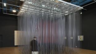 """'Cubo Penetrable', (1996) forma parte de la exposición """"Soto"""" en el Centro Pompidou de París."""