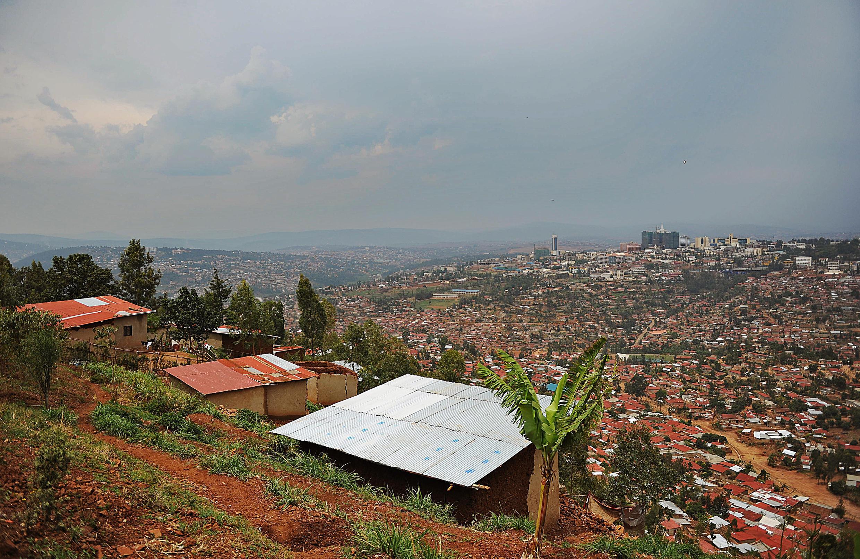 Vue générale de Kigali, la capitale du Rwanda.