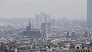 Pollution in Paris in 2014.