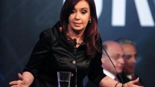 La présidente argentine Cristina Kirchner, le 28 novembre 2012.