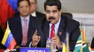Nicolás Maduro, o presidente venezuelano.