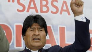 Presidente boliviano, Evo Morales, em foto de 18 de fevereiro.