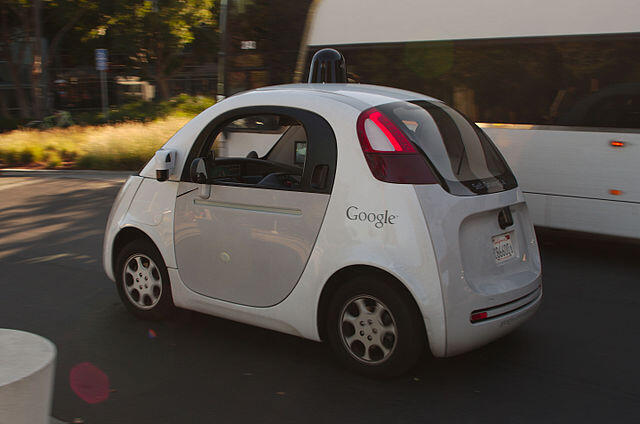Xe tự điều khiển Google Car.